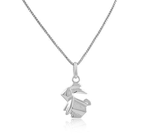 Silberkette Origamihase