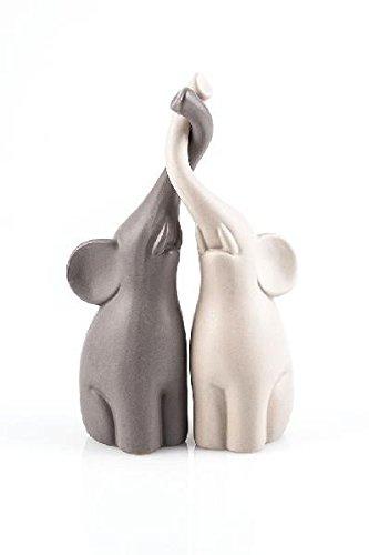 Elefantenpaar-Skulptur