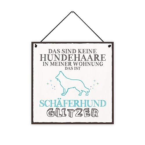 Schäferhund-Glitzer Holzschild