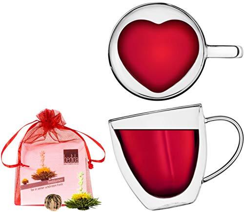 Trinkglas von Herzen