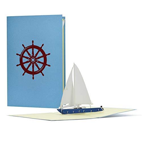 Pop-Up-Karte Segelboot