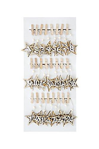 Adventskalender mit Sternen