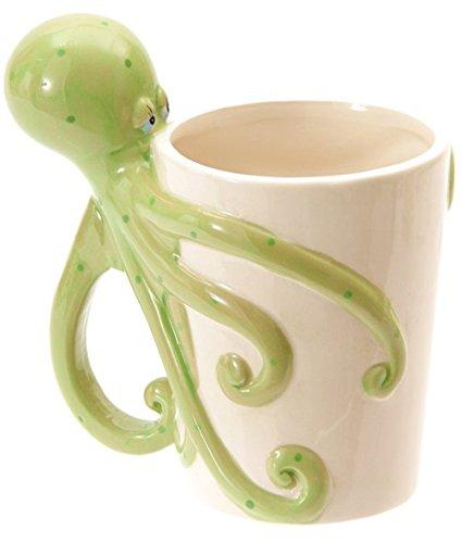 Keramiktasse mit Oktopus