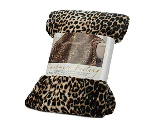 Leopardenmuster-Wohndecke