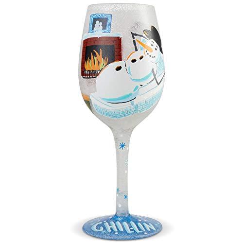 Weihnachtliches Weinglas
