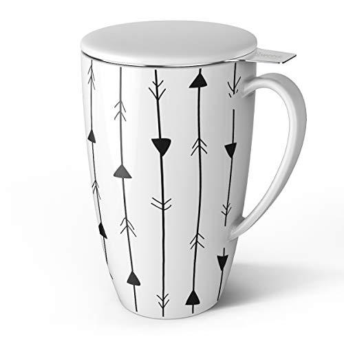 Teetasse mit Deckel und Sieb