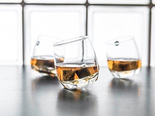 6 Whiskygläser mit rundem Boden