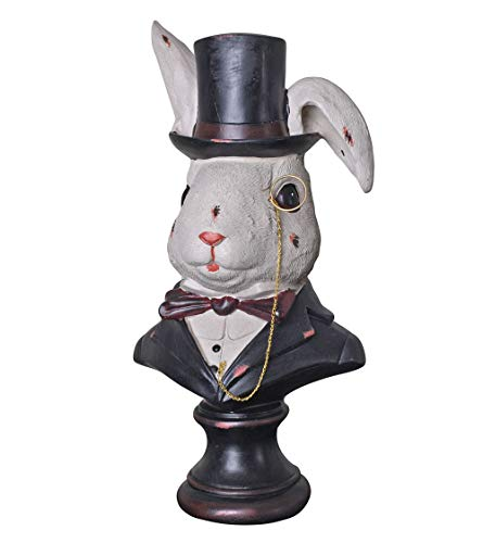 Weißes Kaninchen-Büste