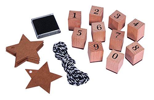 Rayher 68048000 Stempel Set Zahlen 0-9, inkl....