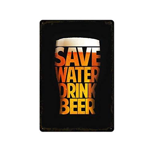Metallschild für Bierfreunde