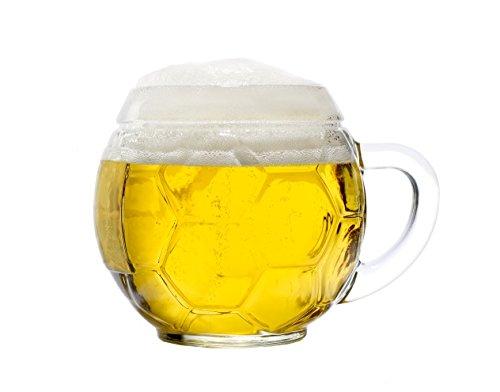 Set Fußball-Bierkrug