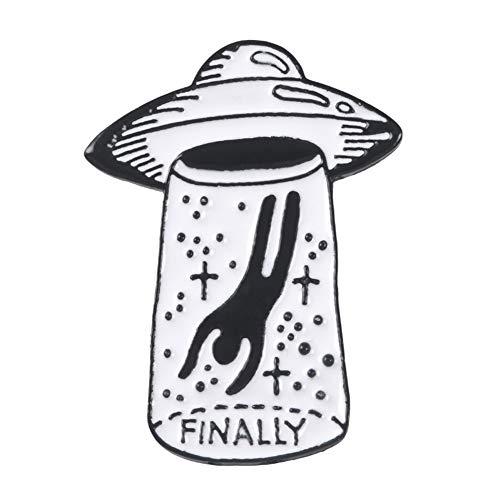 Alien-Brosche