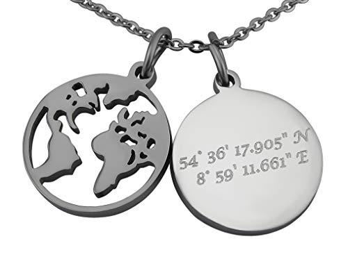 Koordinaten-Halskette