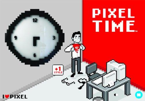 Pixel-Wanduhr