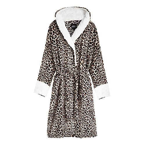 Leopardenmuster-Morgenmantel