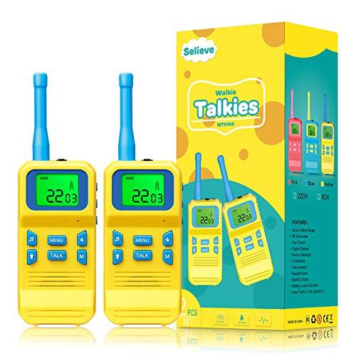 Selieve Spielzeug ab 3-8 Jahren Junge, Kinder Walkie...