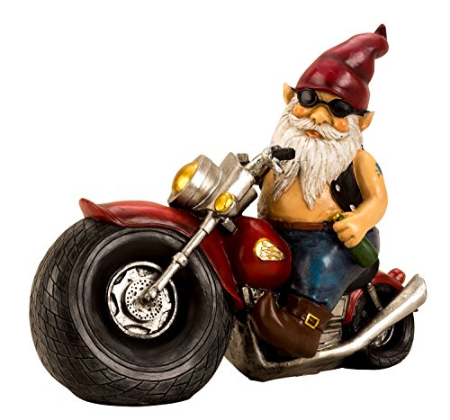 Motorrad-Gartenzwerg