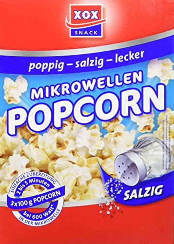 Salziges Mikrowellen-Popcorn