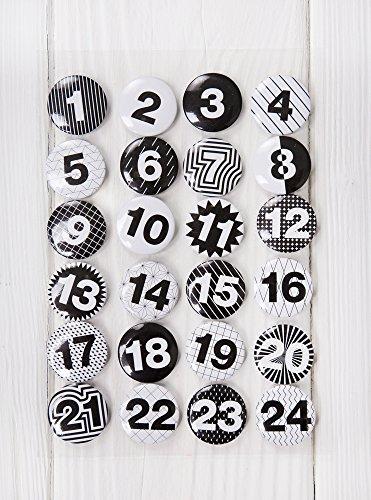 Adventskalender-Zahlen-Buttons