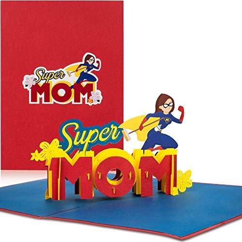 Pop Up Karte 'Super Mom'