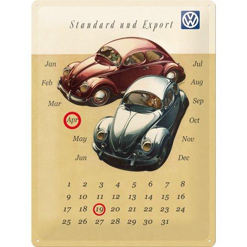 Dekoschild mit Kalender