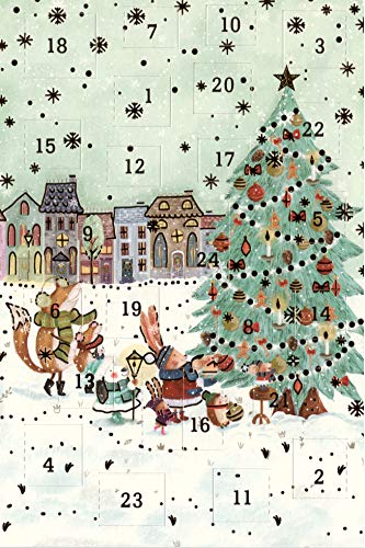 Doppelkarten mit Adventskalender-Set