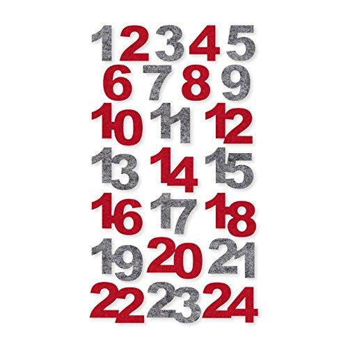 Selbstklebende Filz-Zahlen
