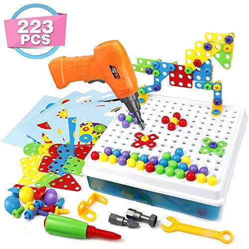 Symiu Mosaik Steckspiel 3D Puzzle Kinder Bausteine mit...