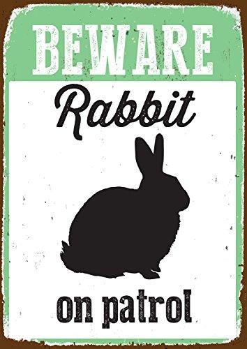 Kaninchen-Warnschild
