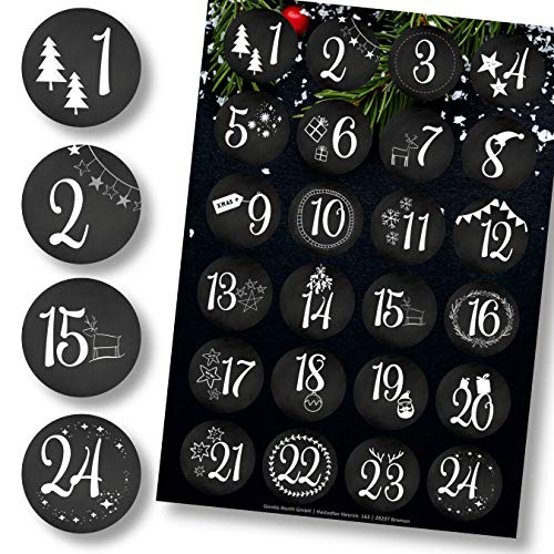 Schwarz-weiße Zahlensticker