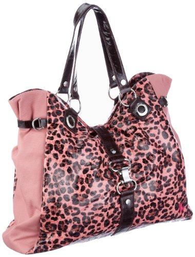Leopardenmuster-Schultertasche