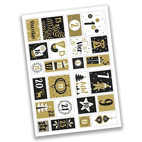 Zahlenaufkleber im Briefmarken-Stil