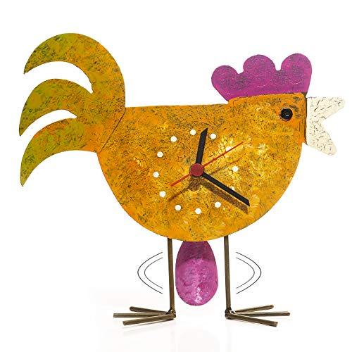 Hühner-Stand- Pendeluhr