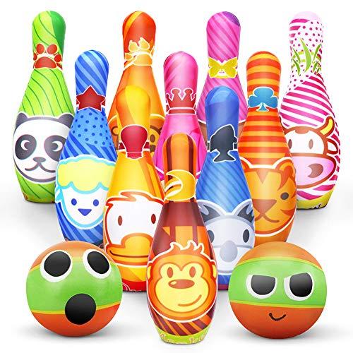 Kegelspiel für Kinder Bowling Ball Set mit 10 Kegel...