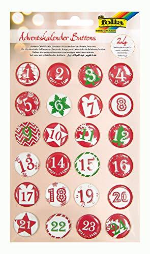 folia Adventskalender-Buttons