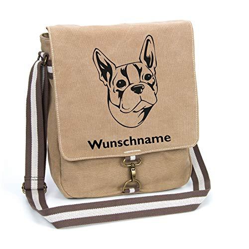 Segeltuch-Tasche mit Wunschnamen