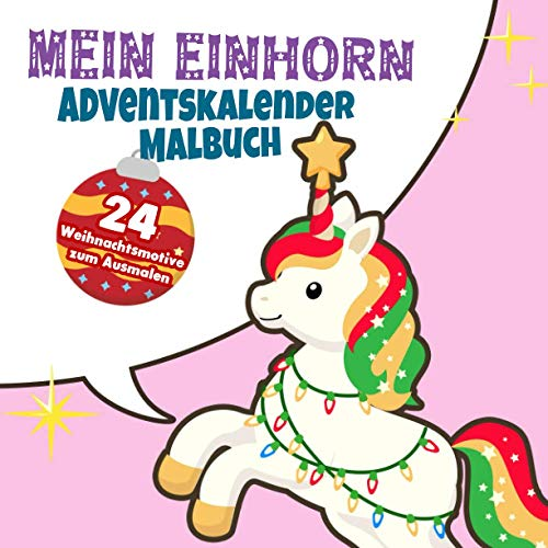 Adventskalender-Malbuch