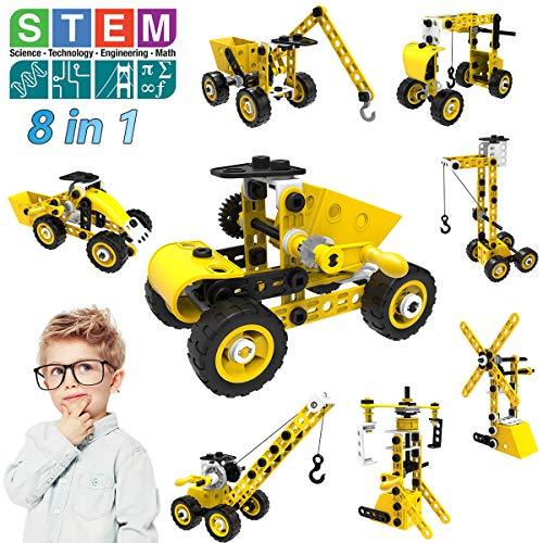 STEM Bauspielzeug, 8 in 1 Bausteine Konstruktion...