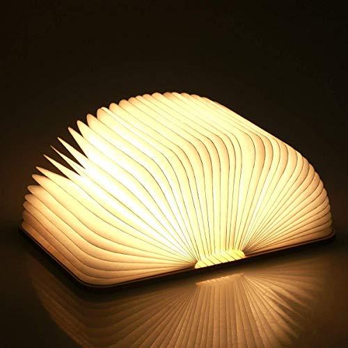 Hölzerne faltende Buch-Lampe, magnetisches LED-Licht,...