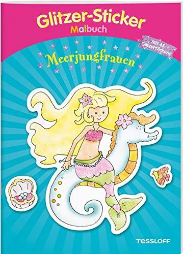 Meerjungfrauen-Malbuch mit Stickern