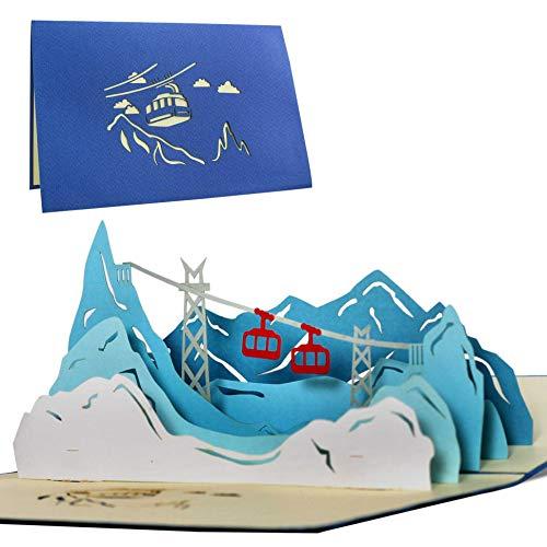 Originelle Geschenkkarte Wandergondel
