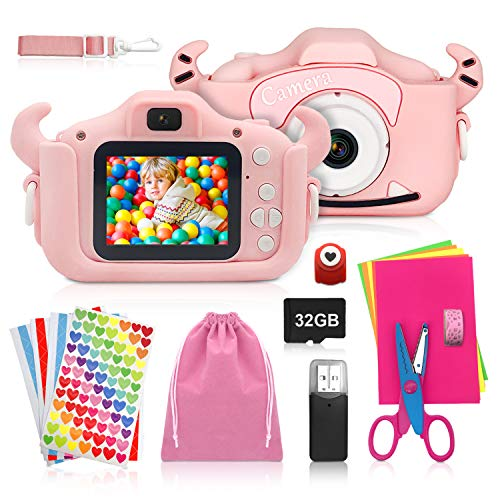 ShengRuHai Kinderkamera, Digitalkamera Kinder mit USB...
