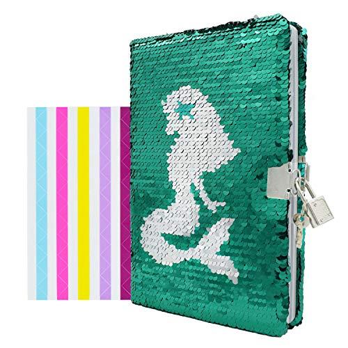 Tagebuch mit Meerjungfrau-Pailetten