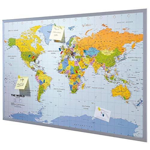 Korkpinnwand-Weltkarte