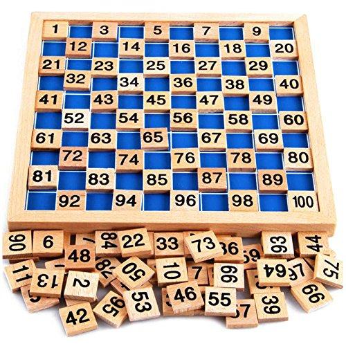Holzpuzzle mit Zahlen
