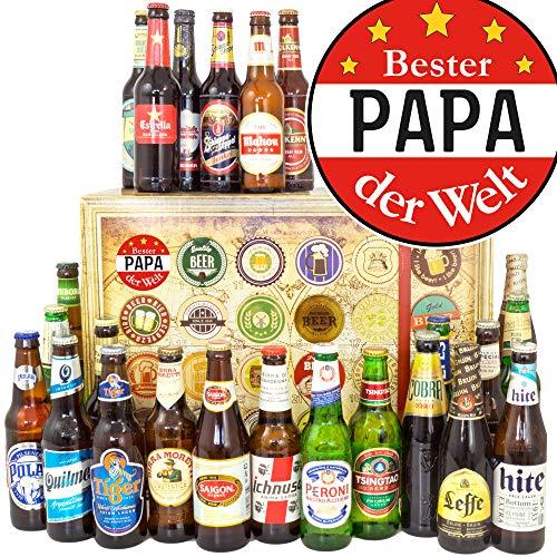 Bester Papa - 24 Biere aus der Welt - Geschenke...
