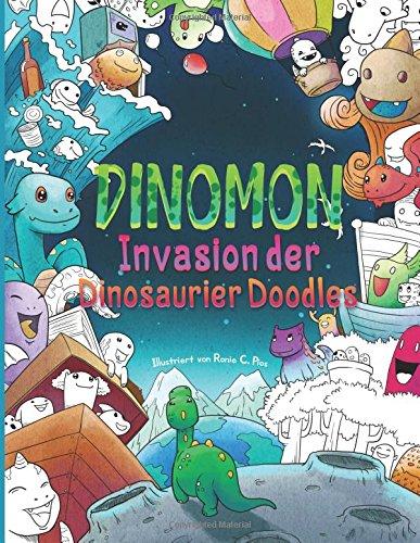 Ausmalbuch mit Dino-Motiven
